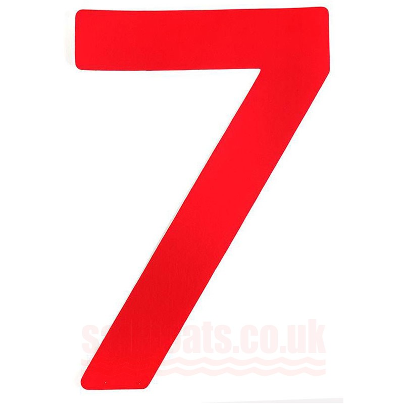 "Sail Number 30cm/12"" 7 Red"