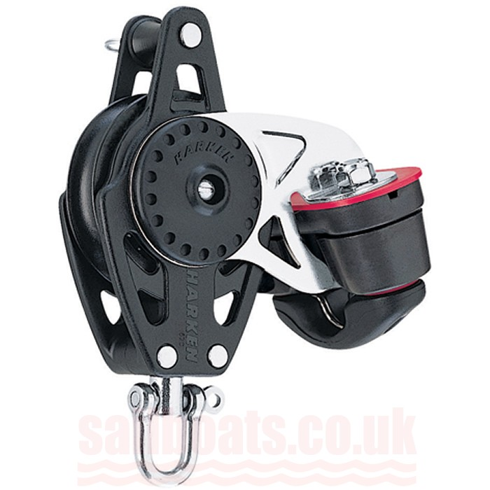 Harken 57mm Carbo Single Block with Swivel/150 Cam-Matic and Becket 2616