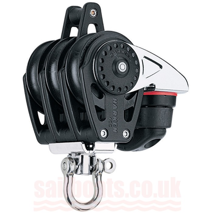 Harken 40mm Carbo Triple Block with Cam Cleat and Becket 2648