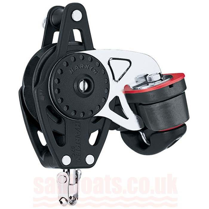 Harken 75mm Carbo Ratchamatic Single Block /150 Cam-Matic and Becket 2684