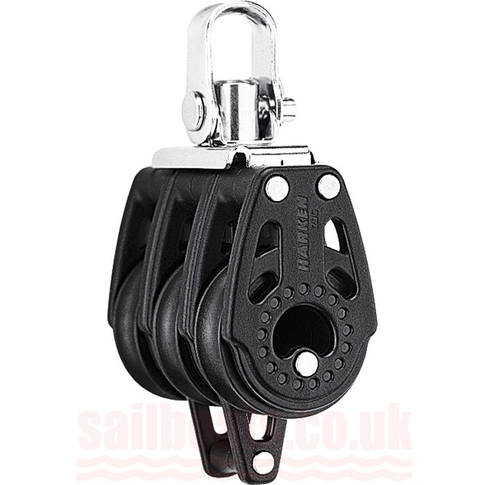Harken 29mm Carbo Triple Block with Swivel Shackle and Becket 345