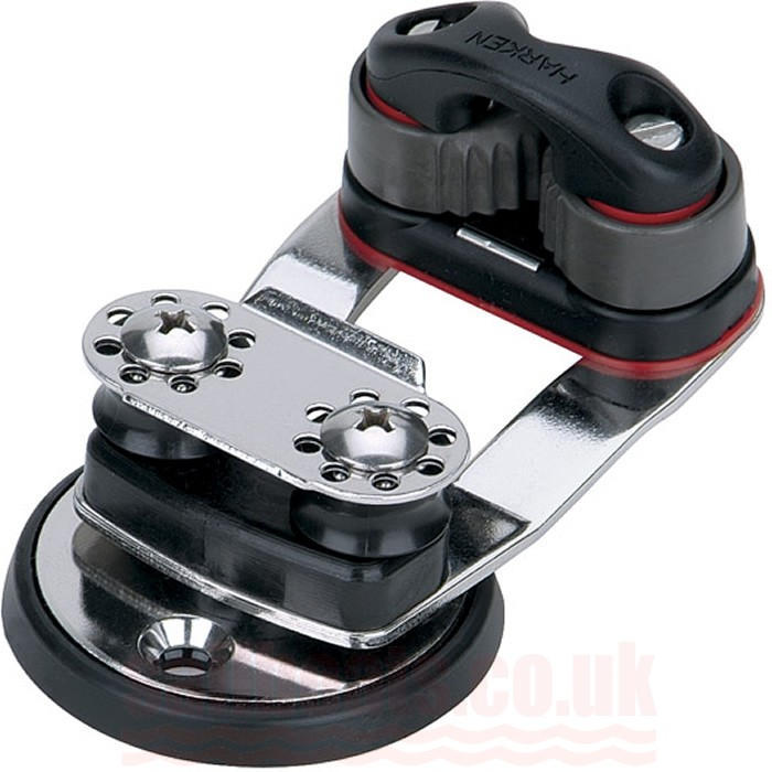 Harken Swivel Base with 338 Micro Cam-Matic and 16mm Sheaves 462