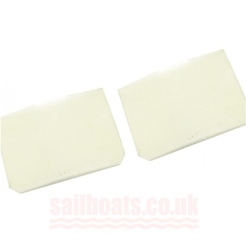 Sailboats Transom Flap Compatible With Laser boats Pair Large 12x9 cm