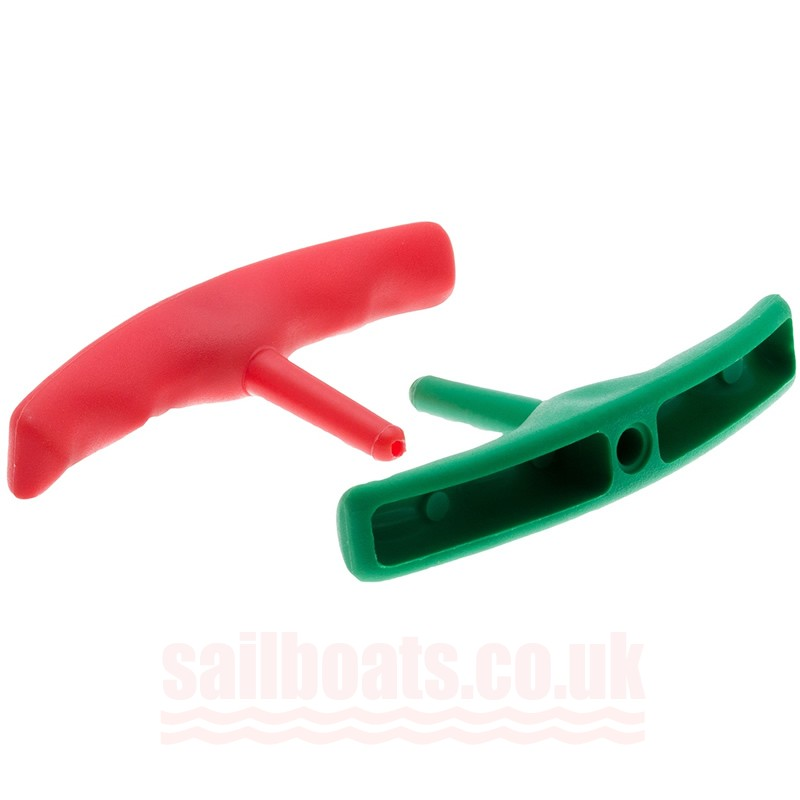 Rwo Trapeze Handle Plastic Red and Green 2 Pack R4121