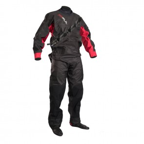 Gul Mens Dartmouth Eclip Zip Drysuit Only Black/Red GM0378-B5