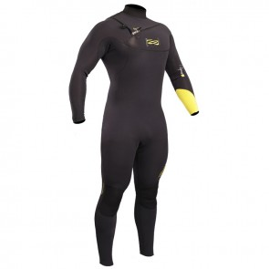 Gul Response Chest Zip 3/2mm Blind Stitched Steamer Wetsuit Black Lime RE1240-B4BKLI