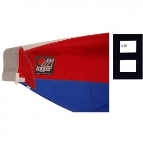 Topper Official 5.3 Folded Sail Red/Blue Including 10 Black Digital 8 Numbers
