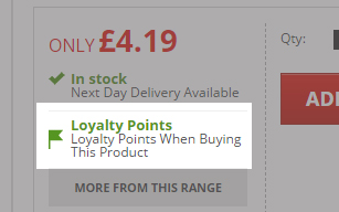 Products with Loyalty Points